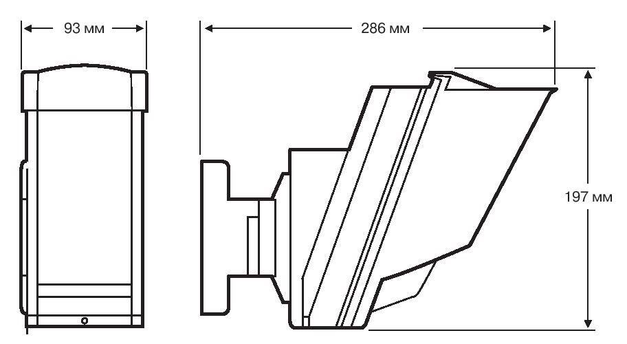 Габаритные размеры OPTEX HX-80, OPTEX HX-80AM и OPTEX HX-80RAM