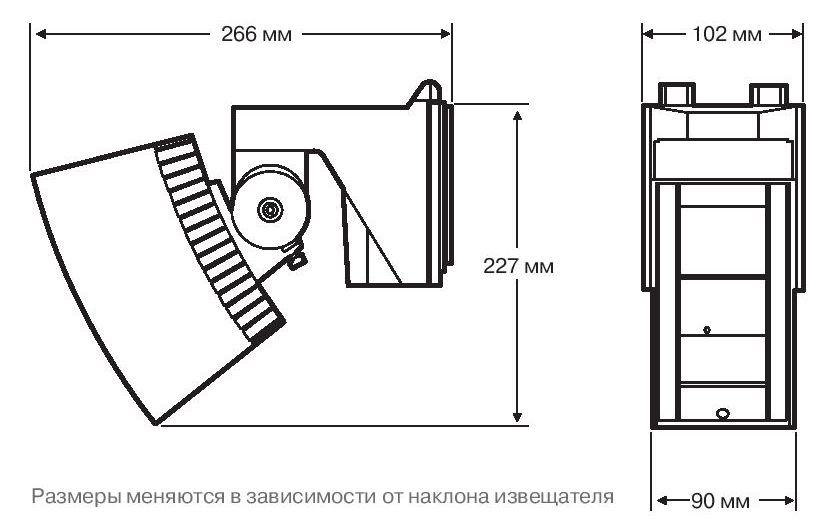 размеры OPTEX SIP-4010, OPTEX SIP-3020 и OPTEX SIP-404