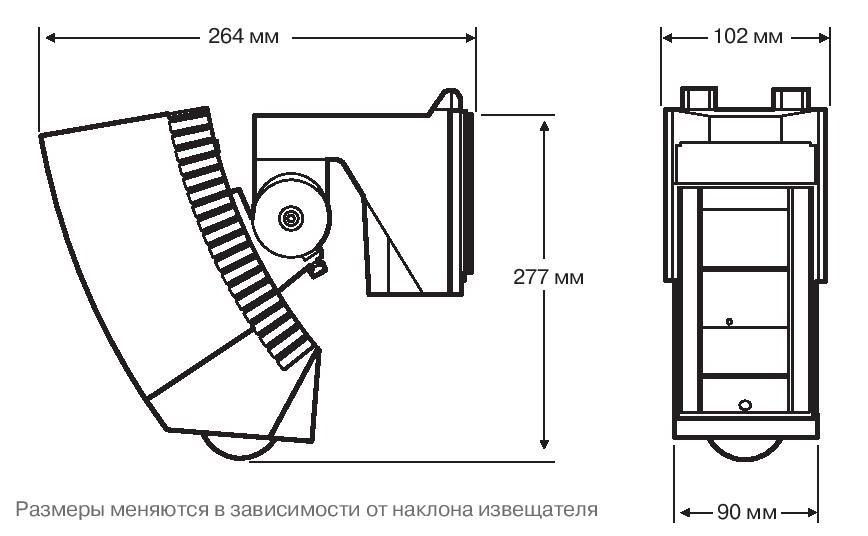 Размеры OPTEX SIP-3020.5 OPTEX SIP-404.5 и OPTEX SIP-4010.5